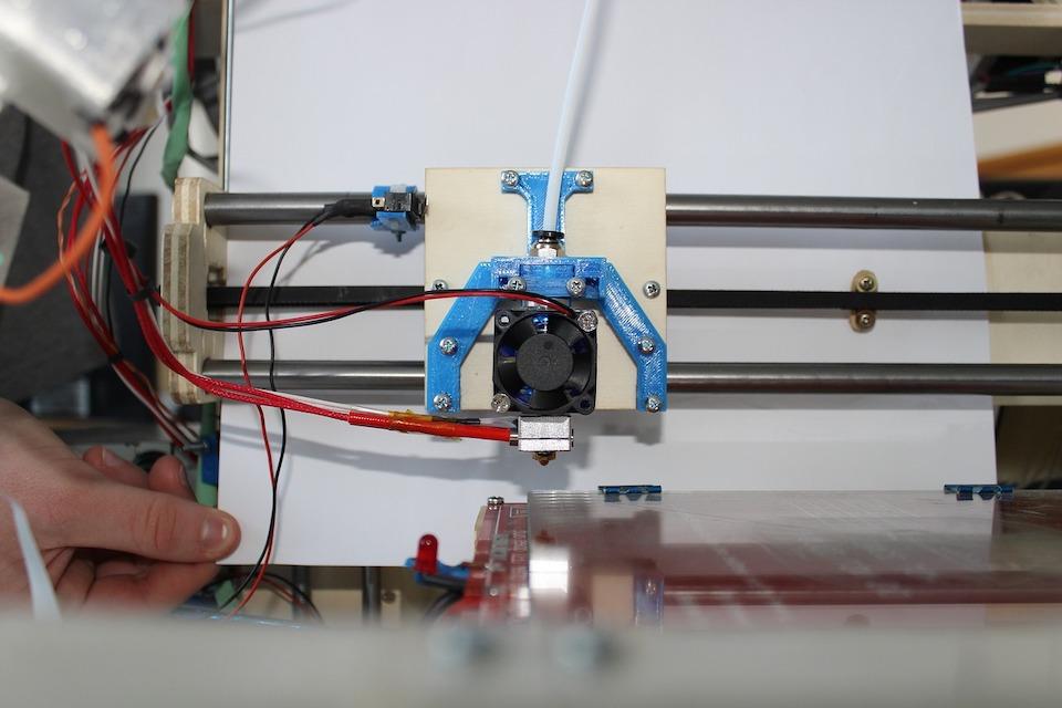 tête d'une imprimante 3D